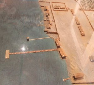 Scale Model Showing Pier and Swimming Pavilion