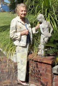 Berne in her Garden in 2011 A