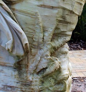 Detail of Fern and Drape on Back of Sculpture