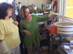 Petra and Michelle at the Kiln