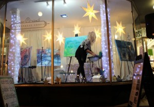 Artist in a Window 1