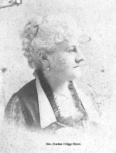 Myers, Mrs. Marion Twiggs S