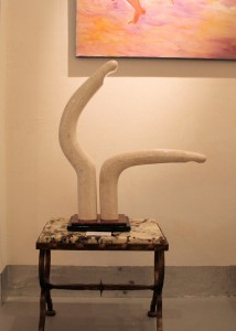 Fidel Aguiar The Dance Marble with Granite Stand