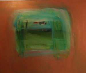 Hollis Jeffcoat orange painting