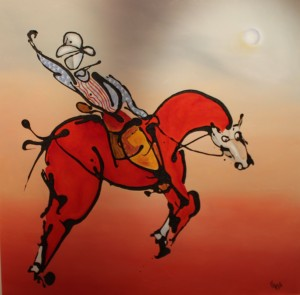Rodeo Red Horse