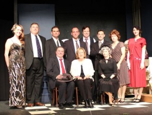 Rick Sebastian and The Cast of Death of a Salesman