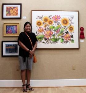 Sunflowers and Lotus 05