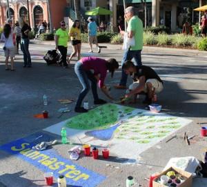 Creating Chalk Art 1