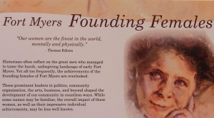 Fort Myers Founding Females Placard