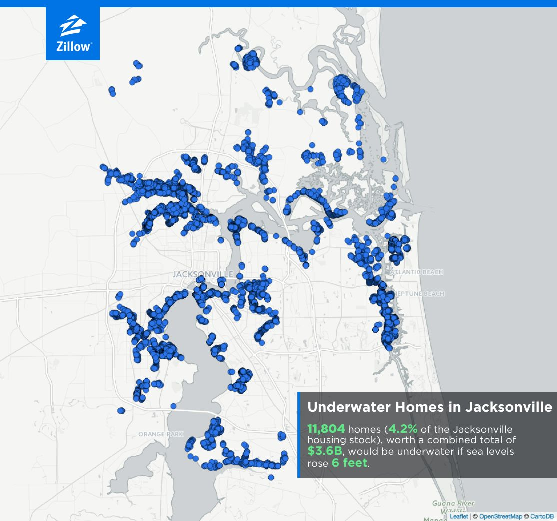 Zillows Nj: Zillow Warns That Sea Level Rise Could Inundate 1.9