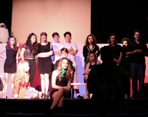 Cast of Heathers and Director Carmen Crussard 05L