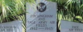 Restoration of Buckingham Page Army Air Field Monument to wrap up this month
